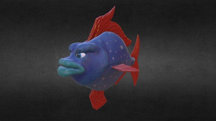 Boris the Moonfish 3D Model