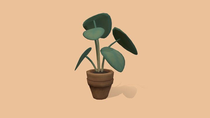 Potted Plant 1 3D Model