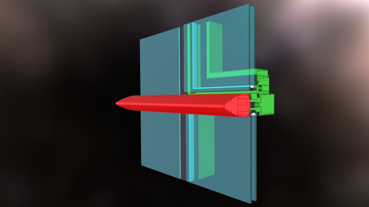 Muro Cortina Horizontal 2 3D Model