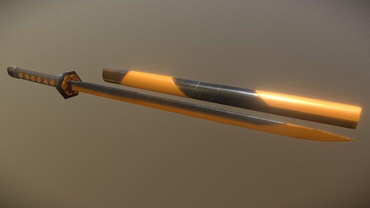 Sci Fi Katana 3D Model