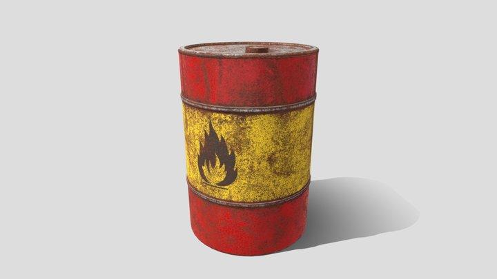 Oil Barrel 3D Model