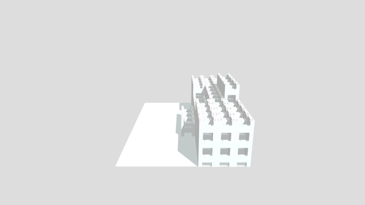 Escalera Interior Central 3D Model