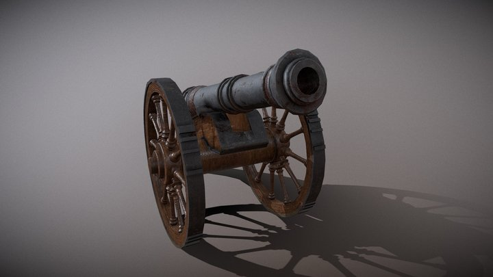 Victorian Cannon 3D Model