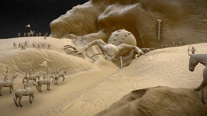 Mud Creature 3D Model