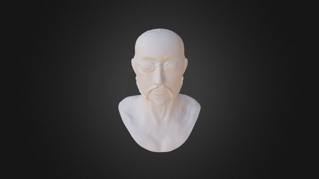 First Character Face 3D Model