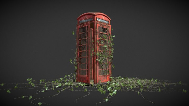 Post Apocalyptic Phone Booth 3D Model