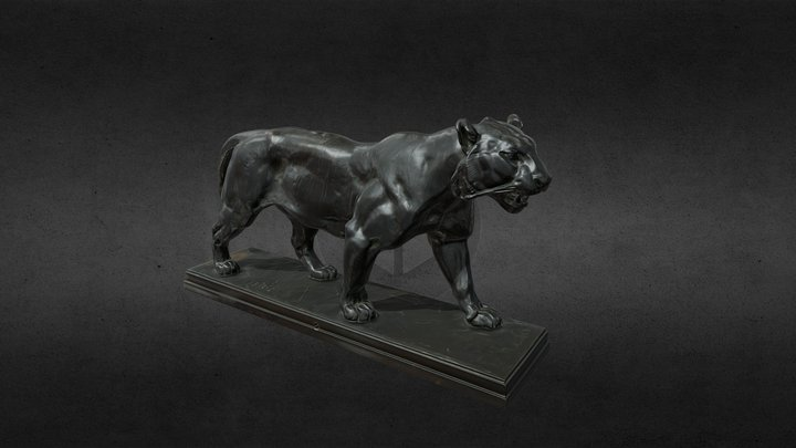 Tiger walking, Antoine-Louis Barye 3D Model