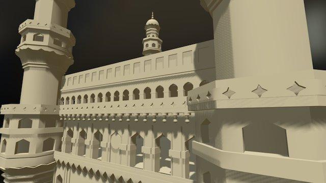 Charminar, Hyderabad 3D Model