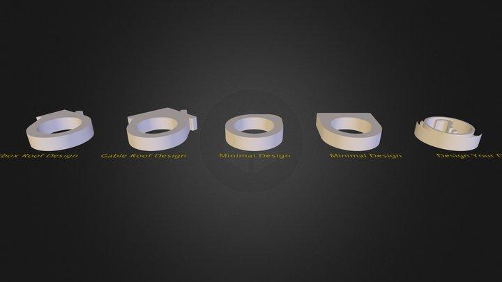 DIY Concrete Ring Designs 3D Model