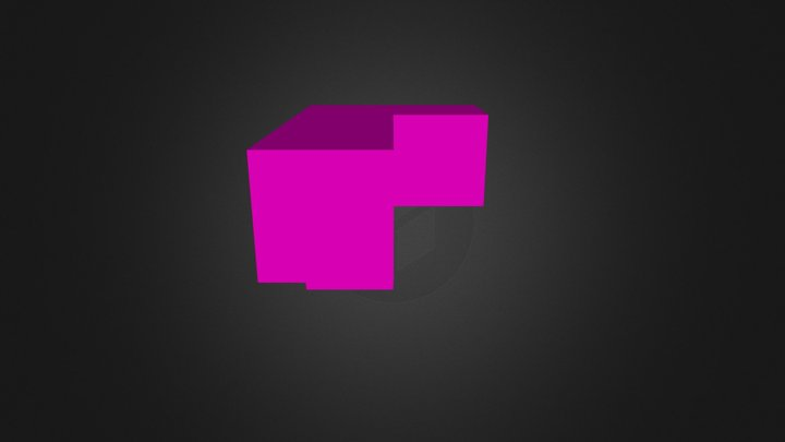 Maroon Puzzle Piece 3D Model