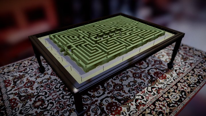Tabletop Maze Diorama 3D Model