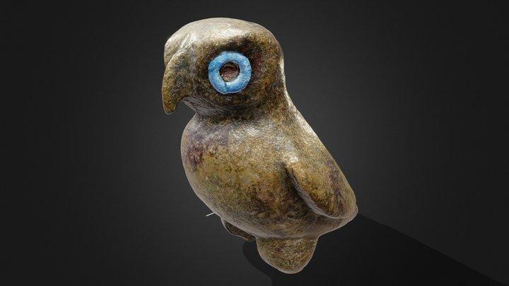 Figurine de chouette romaine| Roman Owl Figurine 3D Model