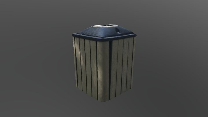 Final trash can model 3D Model