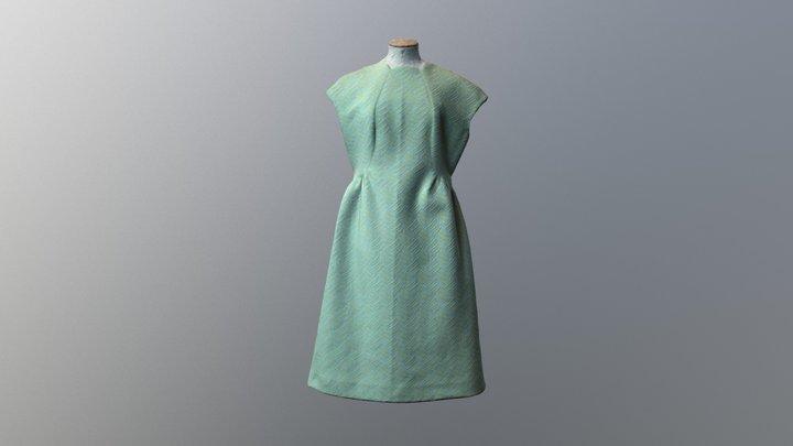 1960s short sleeved crimplene dress 3D Model