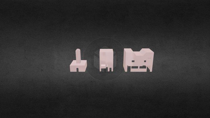 St huisjes van Stijn,Sven,Mees en Matthias 3D Model