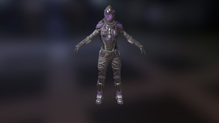 SciFi Female Armor 3D Model