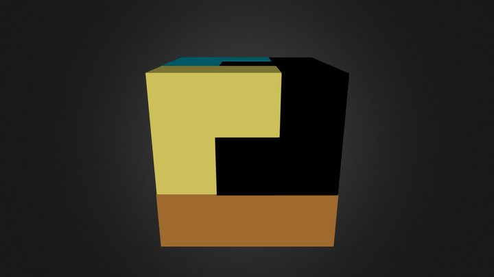 Assembly Puzzle Cube 3D Model