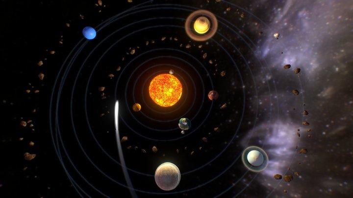 Crazy Sol System 3D Model