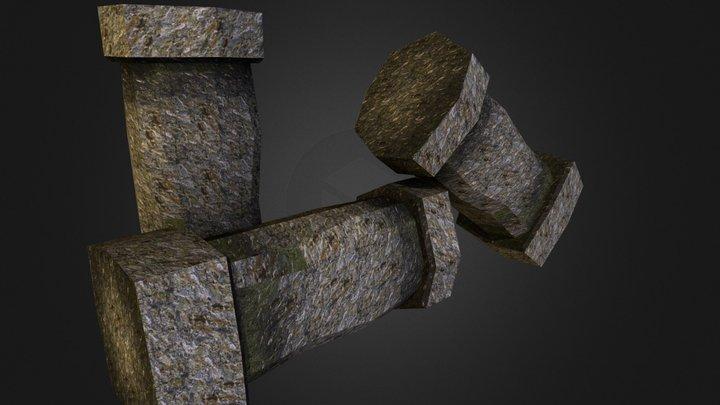 Stone Pillars 3D Model