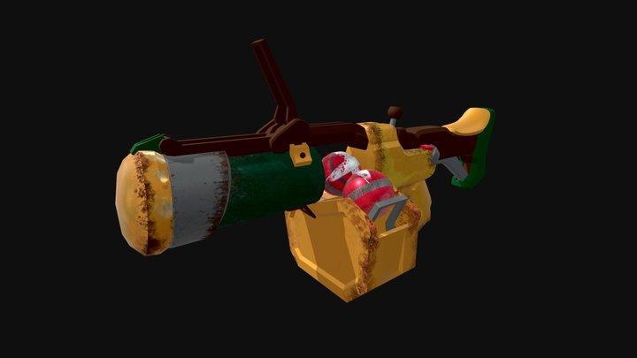 Grande Launcher Textured - Post Processing Off 3D Model