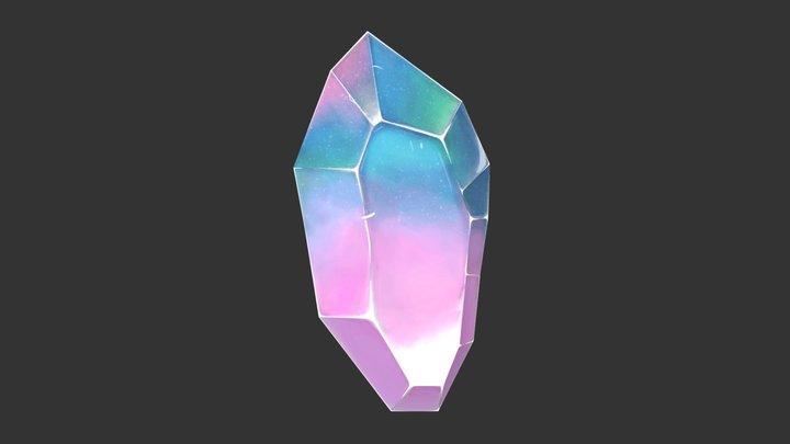 Handpainted Rainbow Crystal wip 3D Model