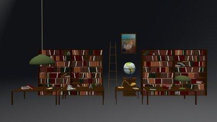 BIBLIOTECA 3D Model