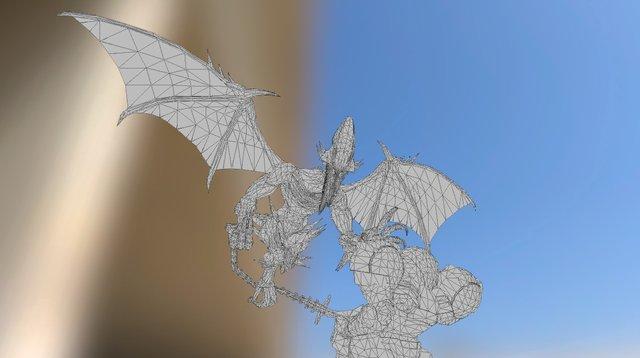 Samus Aran V.s Ridley 3D Model
