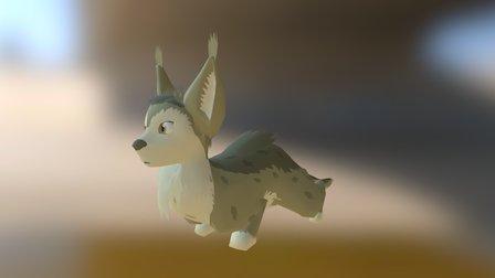 Fox Ferret Lying down 3D Model