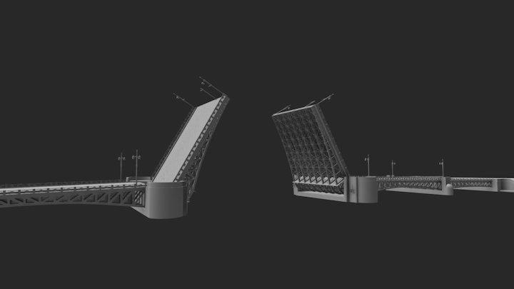 Palace Bridge (Дворцовый мост) 3D Model