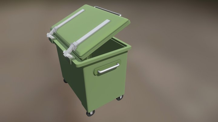Garbage Dumpster Portuguese style 3D Model