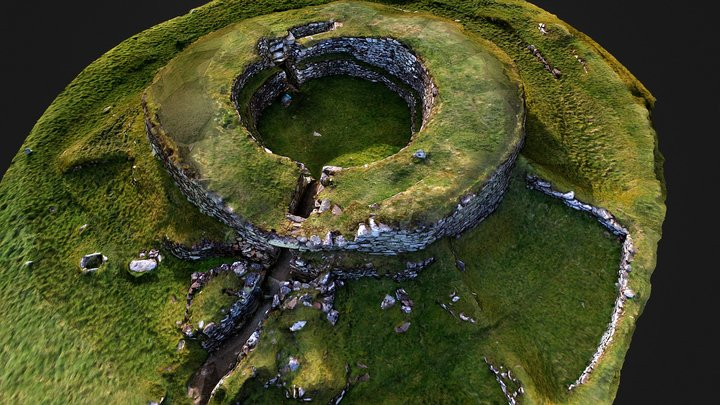 Cairn Liath Broch, nr Golspie, Sutherland 3D Model