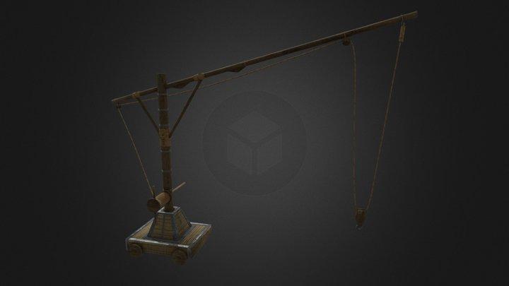 China old port crane 3D Model