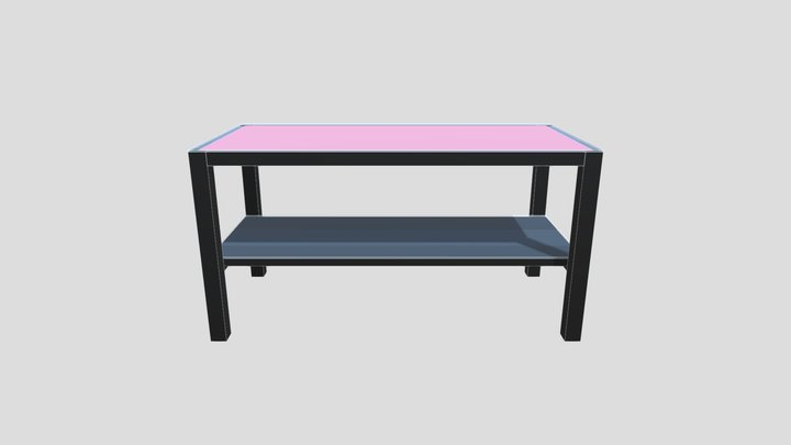 Table rouge et noire 3D Model