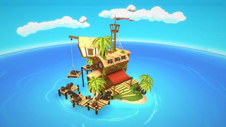 Battle of The Islands - Pirate Hangout 3D Model