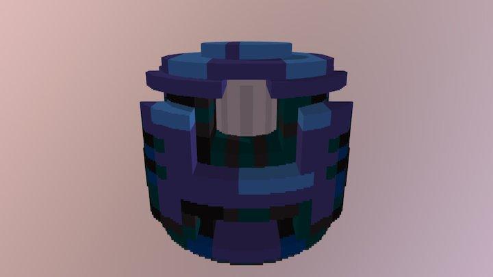 Blue armor shard 3D Model