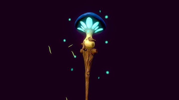 Mushroom Staff 3D Model