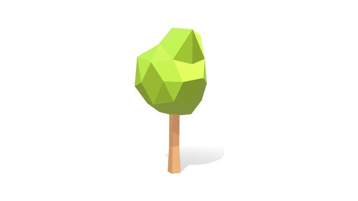Low Poly Tree Wind 3D Model