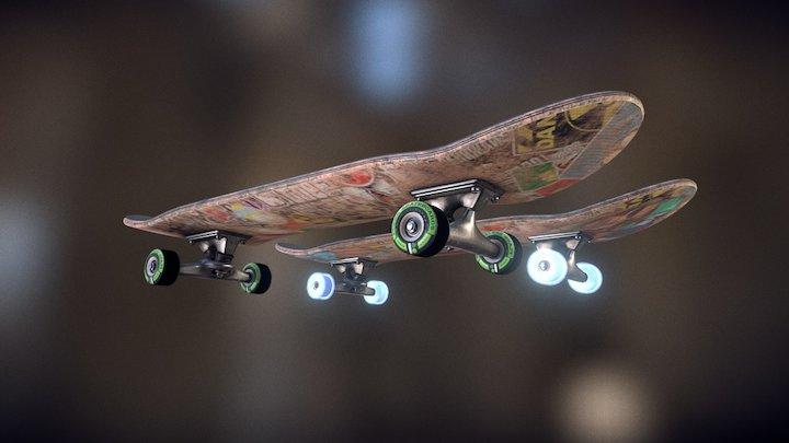 Skateboard - Mask Test 3D Model