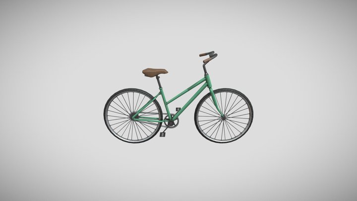 Retro Bicycle 3D Model