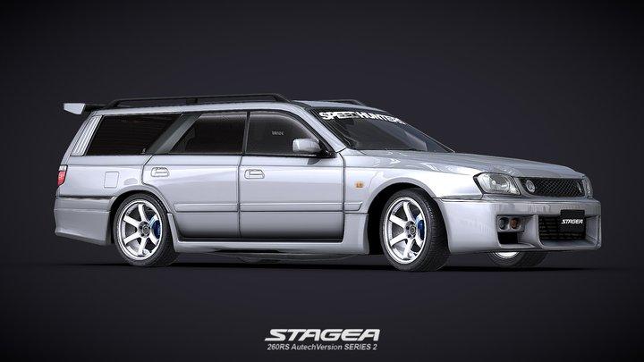 1998 Nissan STAGEA 260RS AutechVersion (WC34) 3D Model