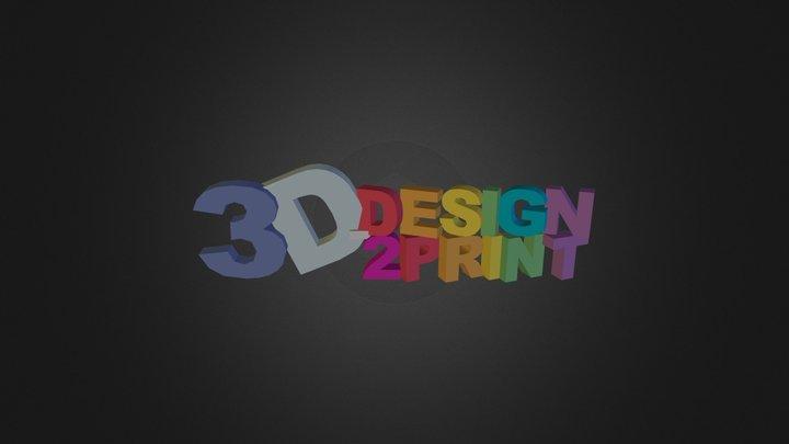 logo_3d-design2print 3D Model