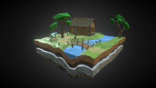 Flower trader hut [WLP series #3] 3D Model
