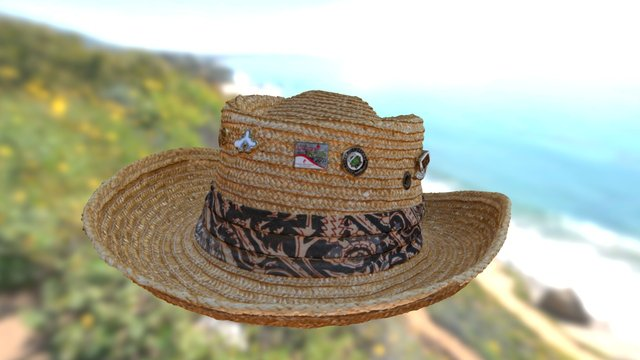 Yvan's Labelle's Straw Hat 3D Model