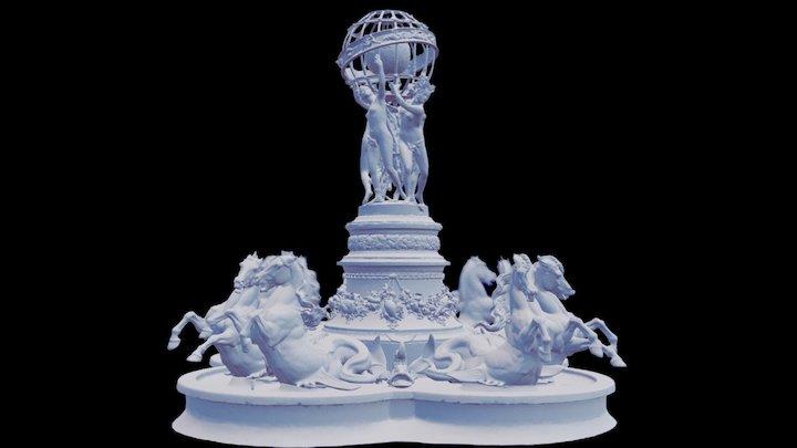 Fontaine des Quatre-Parties-du-Monde (Paris) 3D Model
