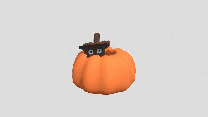 Pumpkin Cat 3D Model