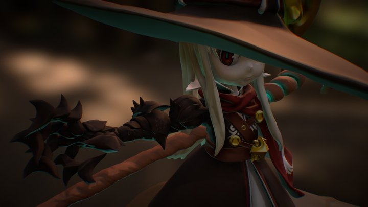 Witch of October 3D Model