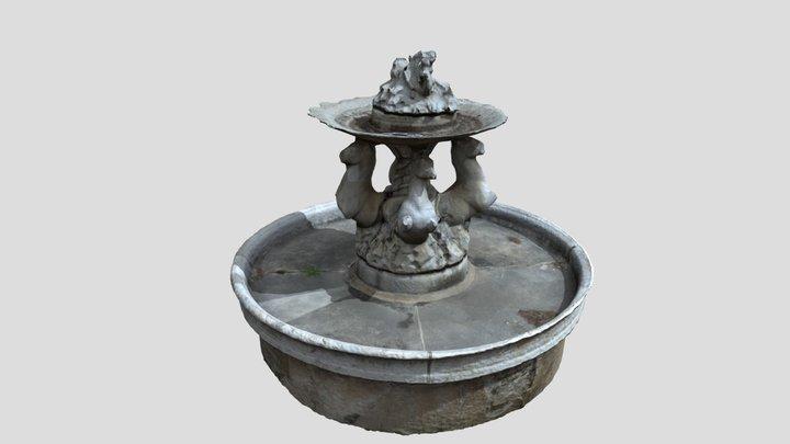 Conjunto escultórico Fuente de los Caballos 3D Model