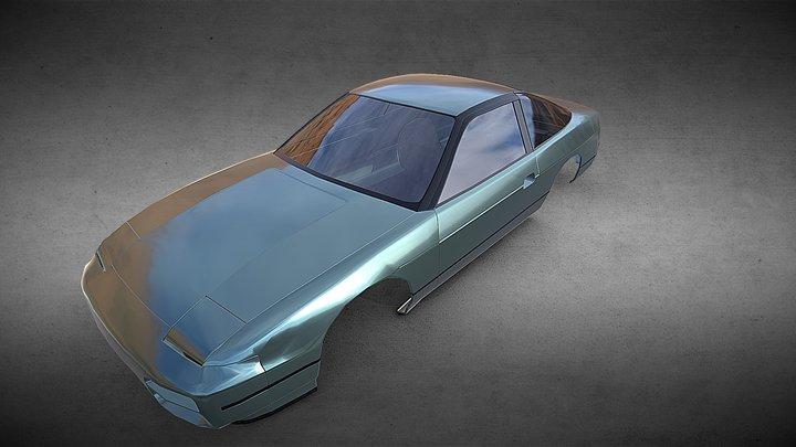 Nissan 180sx Cab Body - Lopoly 3D Model