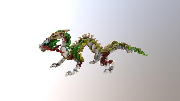 Oriental dragon minecraft 3D Model