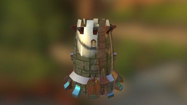 Torre Mapeada 3D Model